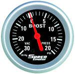Speco 2 5/8  ( 66mm ) Mechanical Boost/Vacuum Gauge P/N 535-03