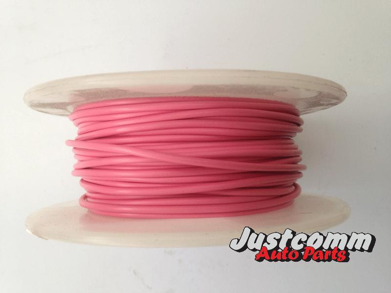OEX AUTOMOTIVE CABLE 30m METRE ROLL 3mm SINGLE CORE WIRE - PINK ACX0708