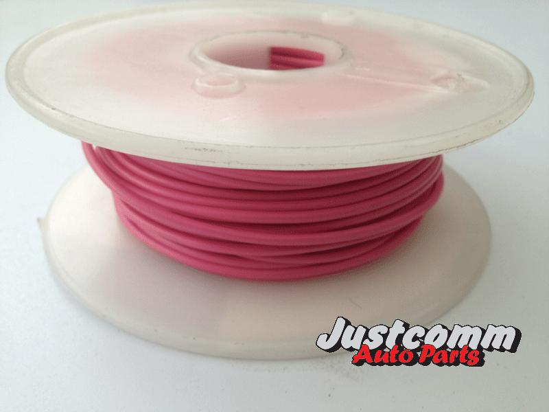 huhuhuhuhOEX AUTOMOTIVE CABLE 30m METRE ROLL 3mm SINGLE CORE WIRE - PINK ACX0708