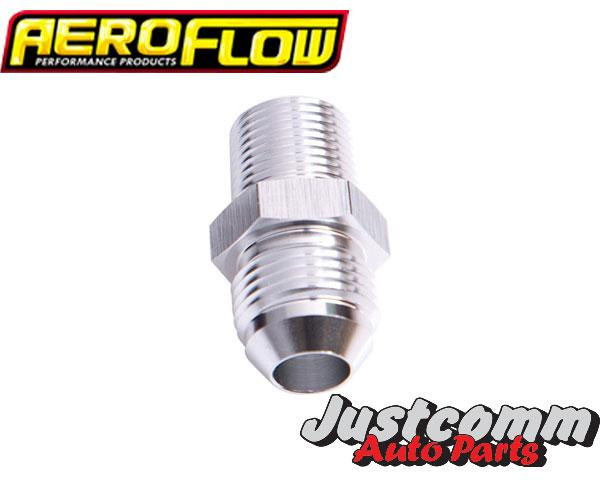Aeroflow - 3/8 NPT to Straight Male Flare Adapter 3/8 to -8AN - AF816-08S