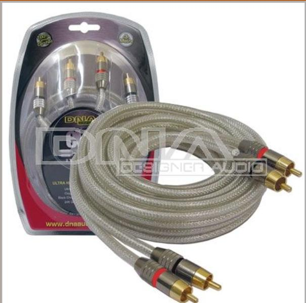 3.0 Mtr Oxygen Free  2 RCA To 2 RCA Audio Lead