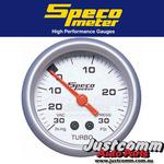 GENUINE SPECO SPORT SERIES 2inch  30PSI VACUUM / BOOST GAUGE - 524-04