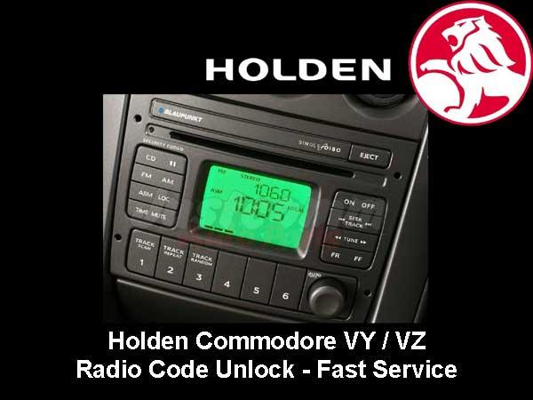 Holden Commodore VY VZ Blaupunkt CD Player Pin Code Service