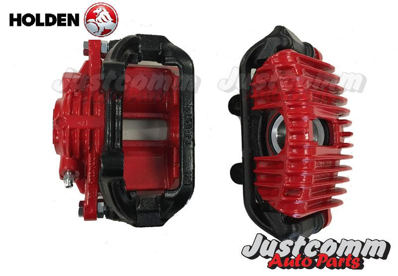 justcomm autoparts - HOLDEN COMMODORE VN VP VR VS V8 RECONDITIONED FRONT BRAKE CALIPERS - PAIR - RED