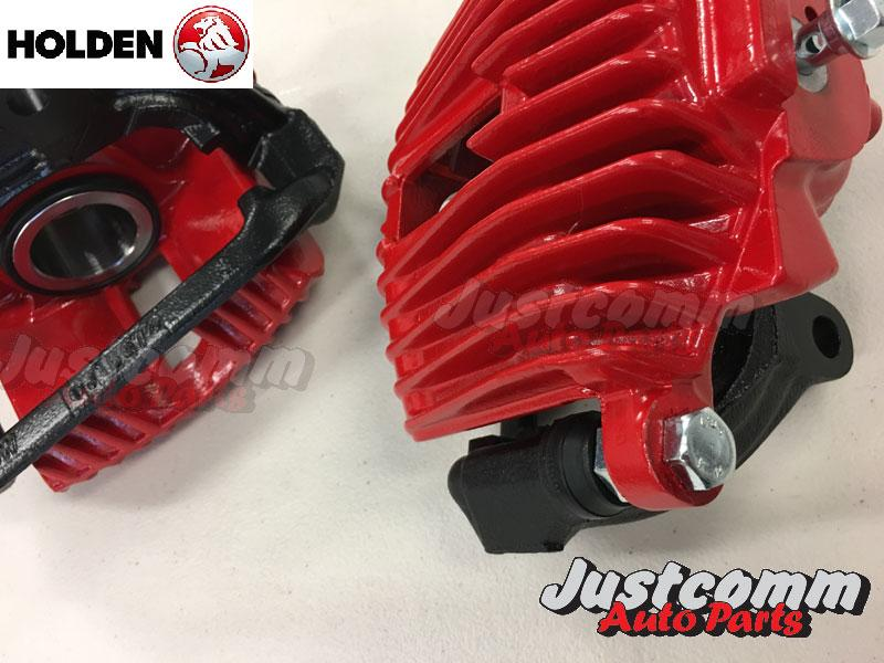 HOLDEN COMMODORE VN VP VR VS V8 RECONDITIONED FRONT BRAKE CALIPERS - PAIR - RED